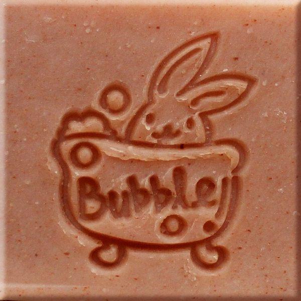 【香草工房】 風格皂章~B009 小兔愛泡澡