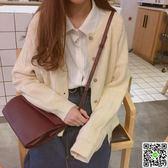 秋裝新款女韓版寬鬆顯瘦短款長袖毛衣學生百搭針織開衫外套 CY潮流站