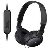 【送收納袋】SONY MDR-ZX110AP 耳罩式智慧型手機適用 可線控黑色