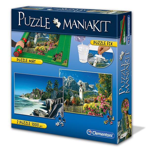 贈框【義大利 Clementoni】拼圖 山脈風景組 (1000片) Puzzle Mania-Kit CL39278I