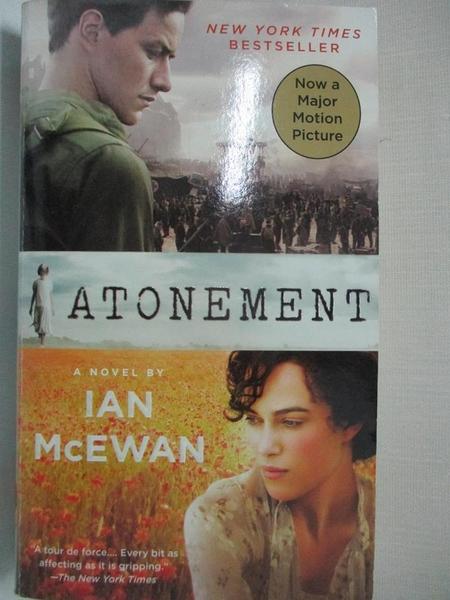 【書寶二手書T6/原文小說_CRX】Atonement_McEwan