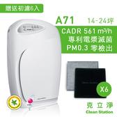 送前置濾網【克立淨】A71 空氣清淨機 14-24坪 雙層電漿滅菌 CADR 561|防疫清淨首選