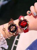 手錶超火的網紅手錶女學生韓版簡約時尚潮流防水抖音同款豹紋女錶