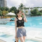 泳衣女ins風日系可愛2020新款保守分體性感遮肚顯瘦學生仙女范 草莓妞妞