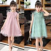 2018新款夏裝中國風復古洋氣女孩童裝兒童洋裝公主風 JA1252 『伊人雅舍』