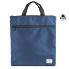 簡約輕便公事包 工作袋 直式 藍色 AMINAH~【am-0244】