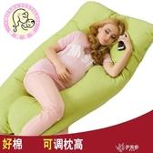 孕婦枕孕婦枕頭護腰側睡枕側臥枕頭多功能睡枕孕婦u型枕   伊芙莎