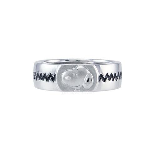 史努比SNOOPY-心電感應-純銀戒指