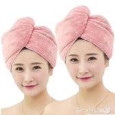 干發帽速干純棉柔軟擦頭發浴帽包頭毛巾吸水成人女大家用加厚薄款 第一印象