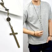 十字架項鍊 古著銅人像七里香長鍊NBE17