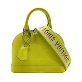 【台中米蘭站】全新品 Louis Vuitton 展示品 ALMA BB 牛皮手提斜背二用包(M57446-檸檬黃)