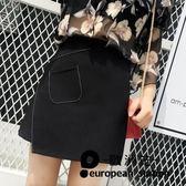 短裙 不規則半身裙高腰a字包臀裙女大碼「歐洲站」