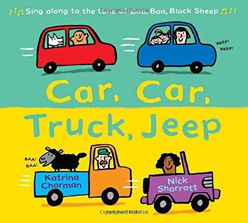 【麥克書店】CAR CAR TRUCK JEEP /英文繪本《主題:交通工具》班級閱讀書單-低年級