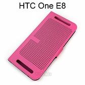 【Dapad】HTC One E8 洞洞款側掀皮套 (桃)