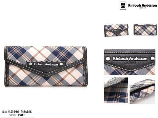 【寧寧精品*台中店】Kinloch Anderson 金安德森 KA151202BKF【頂級牛皮 超多夾層長夾 黑色】-1