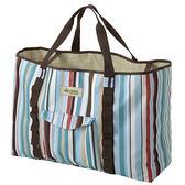 [LOGOS] 花線條裝備袋藍L 65X21cm(LG73189012)