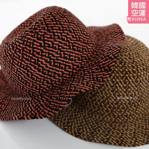 [韓國髮飾配件]韓國飾品~撞色不規則紋細絨帽/毛呢帽~2色(P11051)★水娃娃時尚童裝★