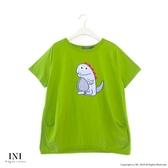 【INI】注目風格、好可愛小恐龍上衣.綠色