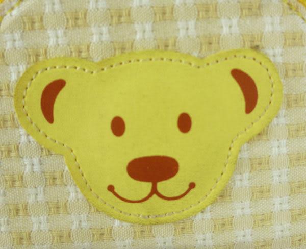 【震撼精品百貨】MILK TEDDY _泰迪熊 ~ 格紋零錢包『黃&粉』(共兩款)