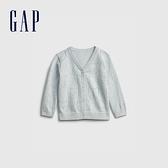 Gap嬰兒 純棉童趣刺繡針織外套 719912-淡藍色