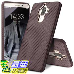 [106美國直購] Mate 9 Case 手機殼 QIALINO UltraSlim Genuine Leather Back Cover Bumper Mesh Huawei Mate