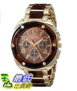 [美國直購] 女錶 XOXO Women s XO5644 Gold Tortoise Bracelet Analog Watch