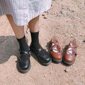 森女娃娃鞋單鞋女日繫淺口圓頭平底鞋【南風小舖】