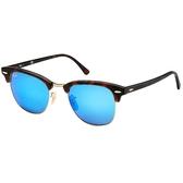 原廠公司貨-【Ray Ban 太陽眼鏡】3016F-114517-55復古眉框墨鏡(水銀藍鏡面)