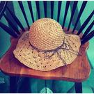 時尚夏日遮陽草帽 可折疊沙灘遮陽帽3