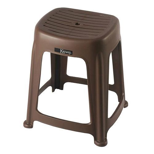 KEYWAY 花園止滑椅RC668-3-咖啡(40*36*47cm)【愛買】