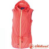 Wildland 荒野 0A51791-89蜜橘 女抗UV輕薄時尚背心 透氣排汗/防曬小罩衫/防曬背心/RE款