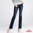 BRAPPERS 女款 新美腳 ROYAL 系列-彈性小喇叭褲-深藍
