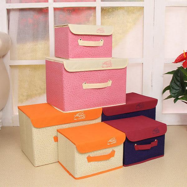 收納箱   精緻皮革紋折疊無紡布收(小號)10公升 收納整理箱 【BNA003】-收納女王