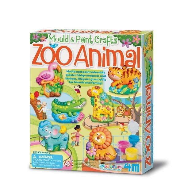 《4M美勞創作》我的動物園(製作磁鐵) Mould & Paint Zoo Animal ╭★ JOYBUS玩具百貨