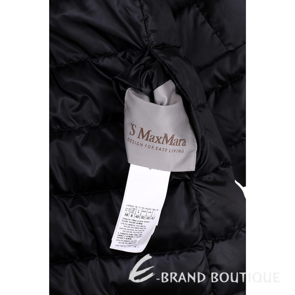 MAX MARA-'S Max Mara 黑色印花雙面兩穿連帽羽絨外套 1540501-01
