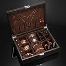 儷麗首飾盒收納盒古風木質ins風飾品盒收納盒多功能大容量手表盒 南風小鋪