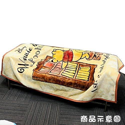DISNEY 小熊維尼成人用單人毛毯L(書櫃)★funbox★丸真_RS65847