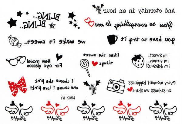 薇嘉雅       紋身貼紙 k-054