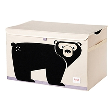 加拿大 3 Sprouts玩具收納箱-黑熊[衛立兒生活館]