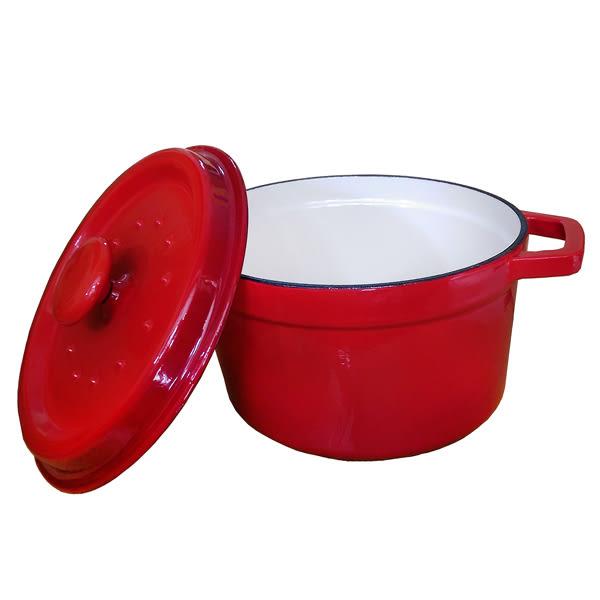 SILWA西華 厚釜琺瑯鑄鐵湯鍋24cm(紅)