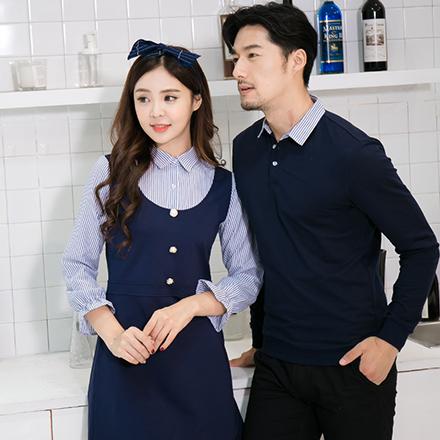 韓版條紋立領袖口縮邊長袖上衣親子裝(大人)