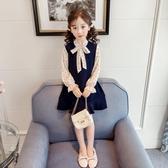 蕾絲洋裝 2019春季新款童裝兒童正韓洋氣公主裙蕾絲雪紡裙子【快速出貨】