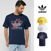 【GT】Adidas Originals 藍白黃 短袖T恤 純棉 運動 休閒 上衣 短T 愛迪達 基本款 三葉草 Logo