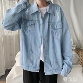 牛仔外套 男春夏季韓版褂子潮流寬鬆牛仔衣男士夏裝男裝夾克 BT21623『優童屋』