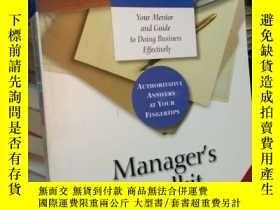 二手書博民逛書店英文原版罕見Managers Toolkit: The 13 S