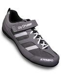 【ATEMPO】UCG都會風 公路車卡鞋 男款 灰白色 玻纖踏片/LOOK/卡踏
