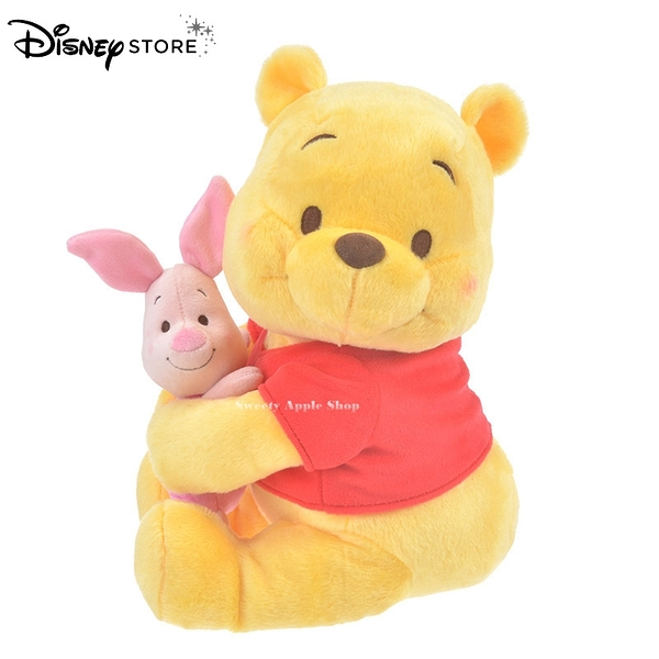 日本 DISNEY STORE 迪士尼商店限定 小熊維尼 & 小豬 擁抱系列 玩偶娃娃