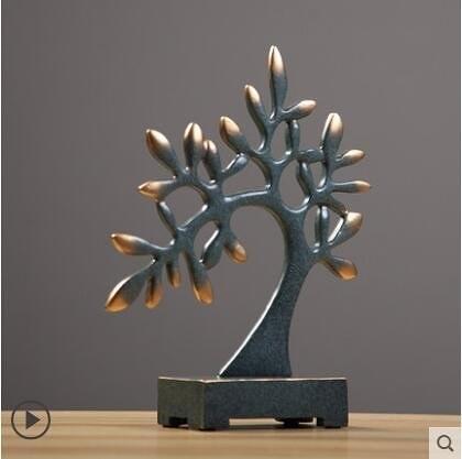 北歐搖錢樹擺件招財家居客廳酒櫃裝飾品玄關電視櫃擺設創意發財樹【主圖款】