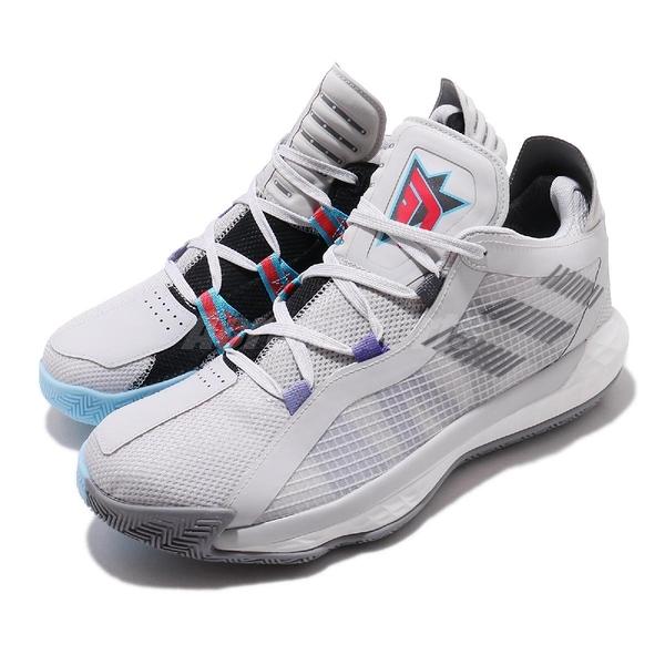 adidas 籃球鞋 Dame 6 GCA 灰 藍 Always on Fire 男鞋 NBA Jam 【PUMP306】 FX2085