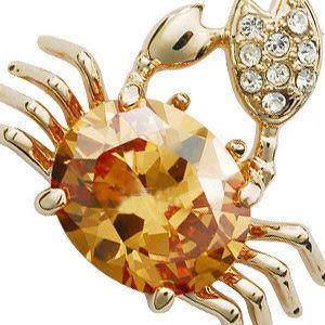 蛟蓓首飾 韓國飾品 晶瑩剔透小螃蟹水晶項鏈